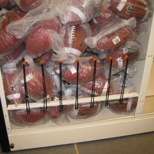 Football Storage on Mobile Shelving at OSU