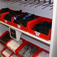 Small-Item Football Storage in Bins and Shelving in Calgary Alberta