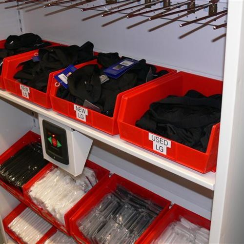 Small-Item Football Storage in Bins and Shelving in Calgary Alberta