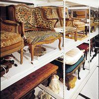 Mobile Shelving for Antique Furniture Storage