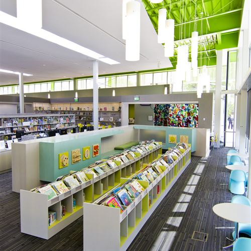Children's library shelving