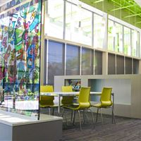 Anacostia Library Collaboration Space with static shelving