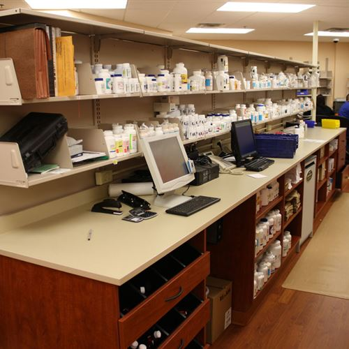Pharmaceutical Storage with Work Area