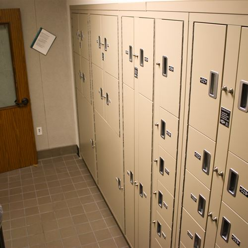 Sheriff's Office Evidence Room Storage Lockers