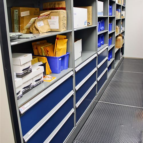 Evidence Storage on Mobile Shelving