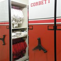 Uniform Storage on Mobile Shelving at Corbett High School
