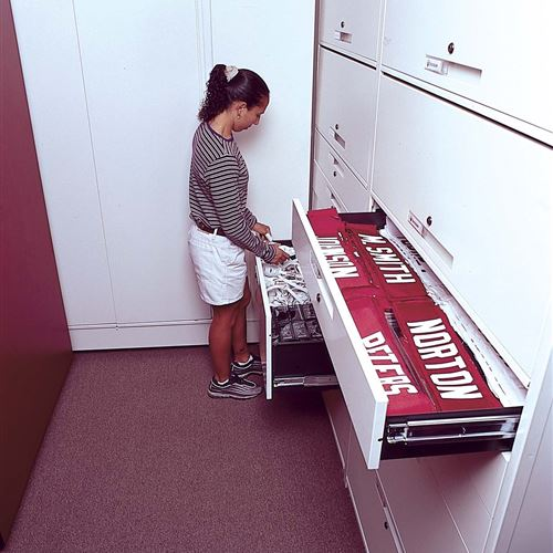 Uniform Drawer Storage at Oklahoma University