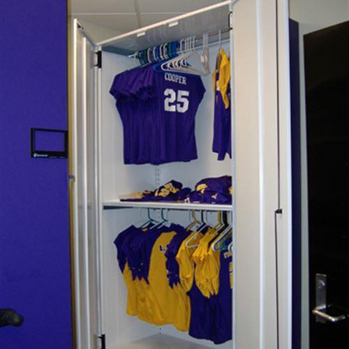 Hanging Uniform Storage at LSU