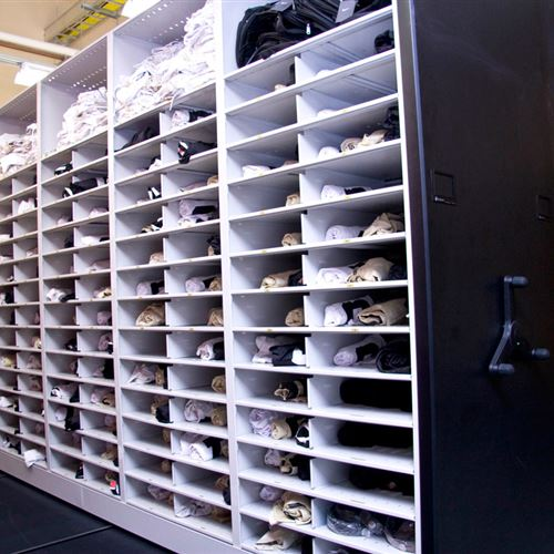 Athletic Equipment Storage Mobile Shelving