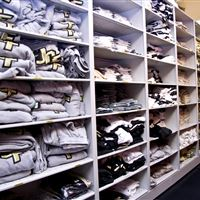 UCF Uniform Storage on Mobile Shelving