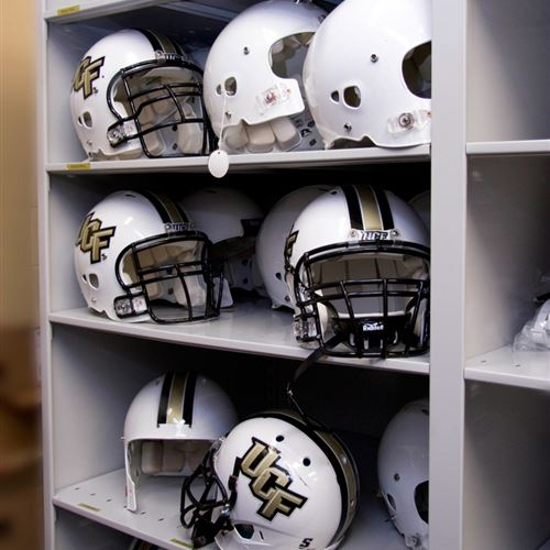 Football Helmet Storage at University of Central Florida