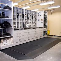 Mobile Shelving with Work Surface at University of Central Florida