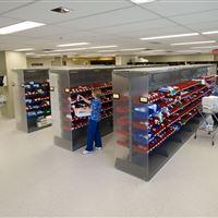 Pharmaceutical Storage utilizing Bin Storage at Peterborough Regional Health Centre