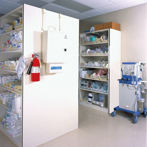 4-Post Shelving in Nebraska Heart Hospital Storage Room