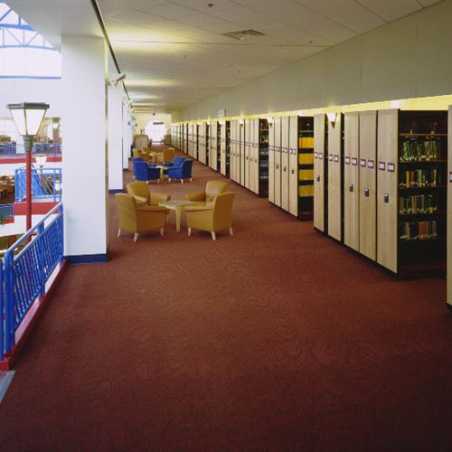 Library Book Storage on Mobile Shelving