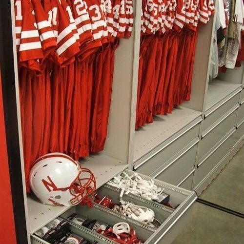 Huskers Go for 2 and Score 2 Mobile Shelving Systems