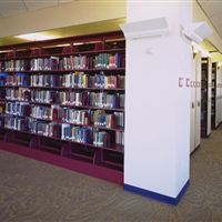 Library Book Storage on Mobile Shleving