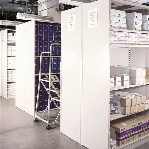 4-post shelving in bulk storage