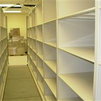 4-post shelving on Mobile Storage at Mayo Clinic