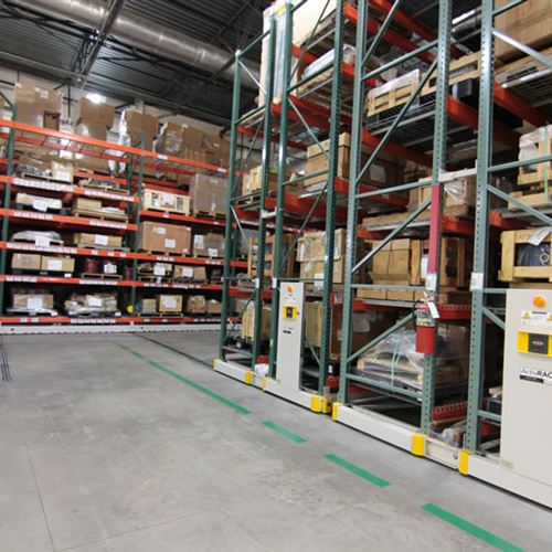 Southern Car Manufacturing Facility General Storage Supply Area with ActivRAC Storage