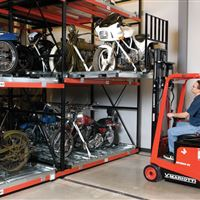Motorcycle Storage in Museum with ActivRAC System