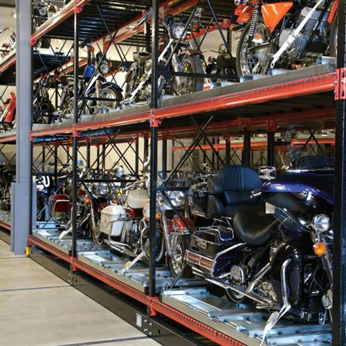Motorcycle Storage on ActivRAC Storage System