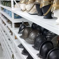 Museum Helmet Storage at Canadian War Museum