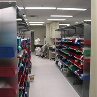 Bin storage at Peterborough Hospital