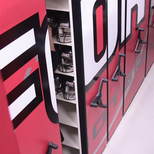 High Density Mobile Shelving System at Fort Atkinson High School