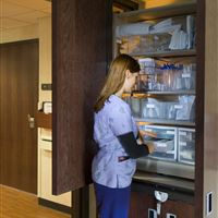 Patient Server Sterile Supply Storage in Patient Room