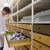 Artifact Storage in Existing Drawers on Mobile Storage at Chicago's Field Museum