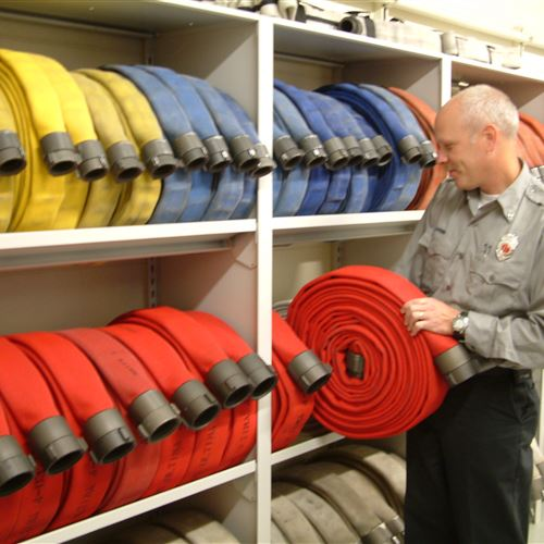 Static Shelving for Fire Hose Storage at Fort Atkinson Fire Department