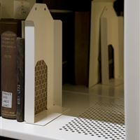 Close up of Perforated Static Shelf for Archival Book Storage