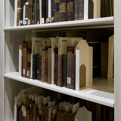 Rare books on Static Shelving