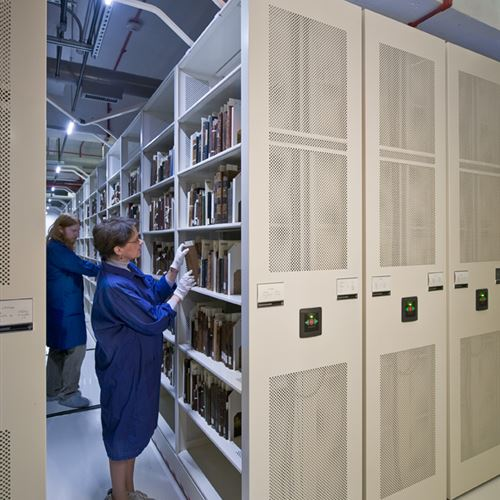 Rare Book Storage on Powered Mobile