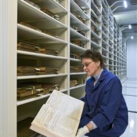 Rare book collection on Powered Mobile Shelving System at State Library of Pennsylvania