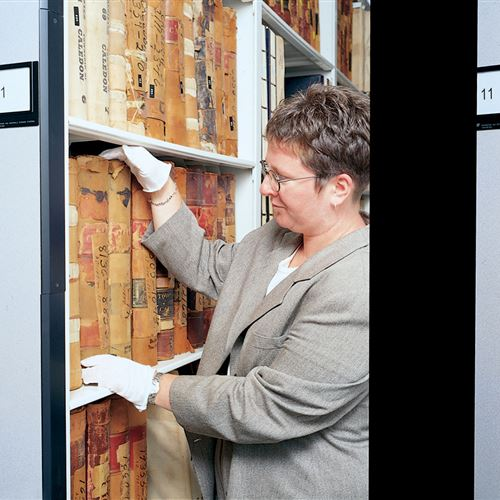 Rare Book Storage at Peel Heritage Complex