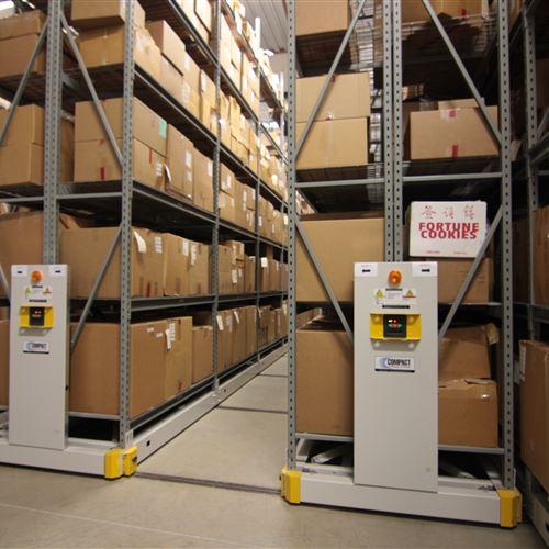 Box Evidence Storage on Warehouse Shelving at Houston Police Department