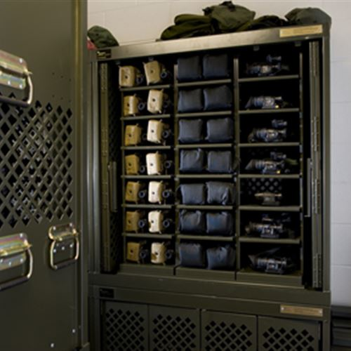 Secure Optical Equipment Storage in Military