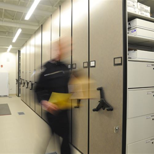 Exceptional Evidence Storage On Mobile Shelving At Skokie Police Department