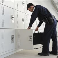 Gear Bag Lockers at Skokie Police Department