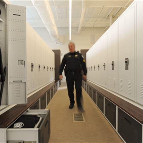 Storage Lockers at Skokie Police Department