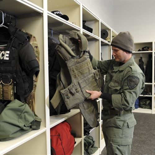 Tactical Unit Storage System at Skokie Police Department