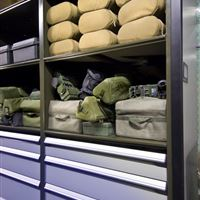 Military Supply Storage at Marine Corp Base
