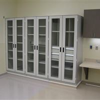 Row of Storage Cabinets for Hospital Operating Room Application