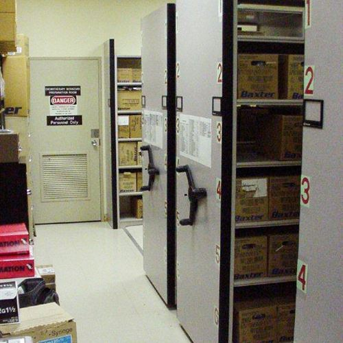 Moveable Supply Storage Shelving for Hospital