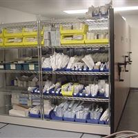 Sterile Medical Supply Storage on Moveable Shelving