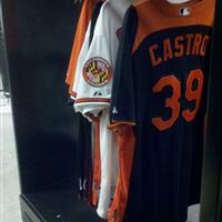 Hanging Uniform Storage for the Baltimore Orioles