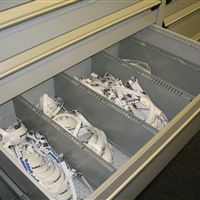 St. Louis Rams Athletic Equipment Storage in Drawers