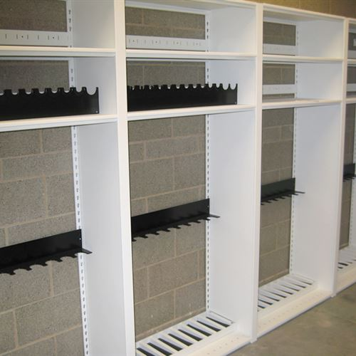 Static Shelving Gun Storage at Carbondale Police Department